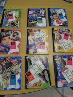 I LOVE this idea. Let students take a day beginning of school year to decorate the covers of there journals!