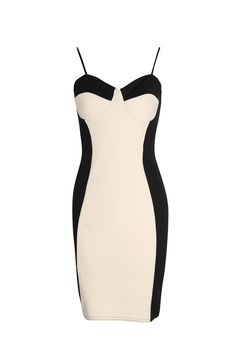 Molly Contrast Panel Bodycon Dress http://creativelymindful.blogspot.com/