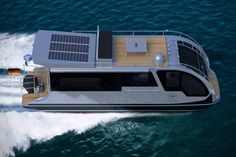 Boat Plans 165014773832911130 - This Camper-Boat Allows You To Vacation On Land And Water Source by Trailerable Houseboats, Small Houseboats, Caravan Salon, Camper Boat, Wood Boat Plans, Remote Control Boat, Build Your Own Boat, Water House, Aluminum Boat