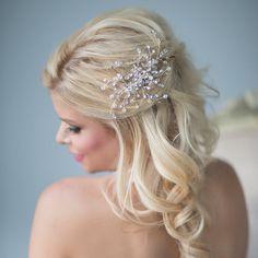 Crystal Bridal Comb, Wedding Hair Accessory,  Bridal Hair Accessory on Etsy, $64.56