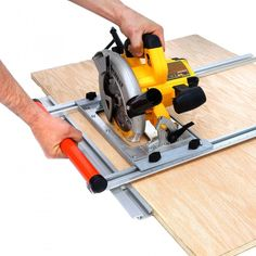 The EZSmart Universal Edge Guide turns nearly any circular saw into a precise, versatile cutting tool for both dimensional lumber and large panels. Thanks to the extra long fence, it makes perfectly straight, repeatable cuts and provides a stable reference until the saw has completely exited the cut. Rather than lugging a heavy 4' x 8' panel to your table saw, the Universal Edge Guide lets you bring a lightweight saw to the panel, enhancing both ease and safety.