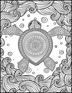 Turtle Coloring Page Is Fun To Color And Will Take Your Mind Off The Stresses Of Your Day Abeautifulstate Turtle Coloring Pages Coloring Pages Coloring Books