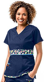 I just discovered Mary Engelbreit scrubs- they are so soft and cute!