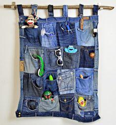Fali tároló farmer nadrágok zsebeiből - ruha újrahasznosítás / Mindy -  kreatív ötletek és dekorációk minden napra
