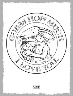 Coloring Page Guess How Much I Love You Guess How Much I
