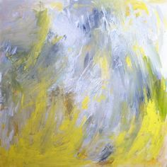 """""""Daffodil"""" abstract painting by @Jenny Vorwaller reminiscent of sunny daffodils"""