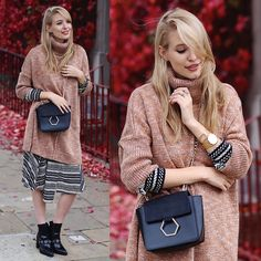 Leonie Hanne - Asos Sweater, Dress, Bag, Boots - Grape leaves & layers   ohhcouture.com