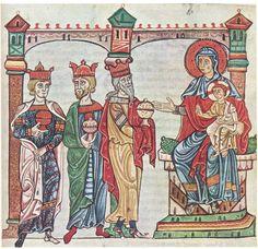 L'ADORAZIONE DEI MAGI – EVANGELIARIO VATICANO LATINO 39, SEC. XIII – BIBLIOTECA APOSTOLICA VATICANA