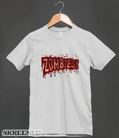 Zombies! Bloody Horror Logo Shirt - Clothes, fashion for women, men and teens