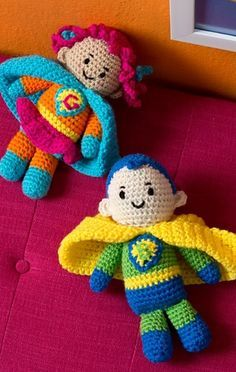 Ravelry: Boy and Girl Superheroes pattern by Michele Wilcox