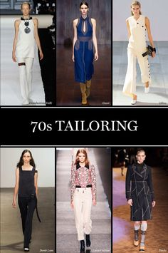 '70s Tailoring Last season was all about the mod '60s, so it was almost inevitable that the '70s were in focus this time around. Long, lean silhouettes took shape at Emilio Pucci and Giambattista Valli, while Prada and Gucci used topstiched details to evoke a modern-day jet set.  Photo: Imaxtree