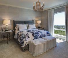 Bedroom neutral grasscloth wallpaper. Master Bedroom neutral grasscloth…