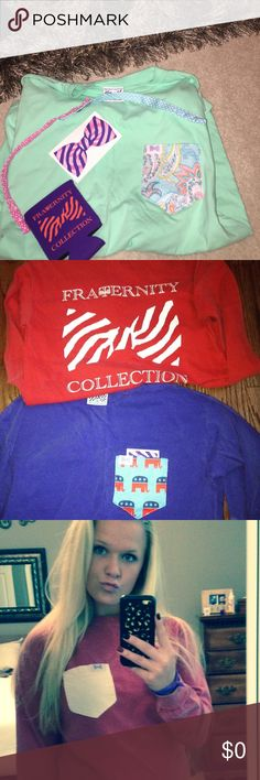 """Fraternity Collection Rep Shop fraternity collection and use code """"mckenzierowland16"""" !!!! Fraternity Collection Tops Tees - Short Sleeve"""