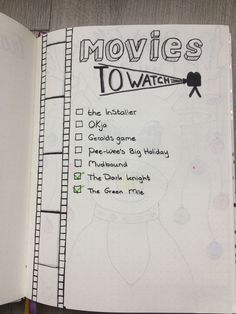 Bullet journal movies to watch