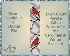 This Bracelet pattern features odd count Peyote made with Miyuki delica beads size 11/0. In this pattern, two colors of delicas are used. The finished armband measures 0.9 inches/2.3 cm wide and 5.5 inches/14 cm long. Note: these measurements do not include a clasp. In purchasing this item, you are buying a PATTERN in PDF format not a finished bracelet. The file will be directly downloadable through Etsy. You will see a Ready to download button on their Purchases and Receipt ...