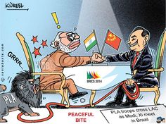 As the world watched Prime Minister Narendra Modi and Chinese President Xi Jinping`s meeting in Brazil, two vehicles carrying PLA troopers transgressed across the LAC in Demchok sector of Ladakh early Tuesday morning engaging in a face-off with the Indian Army.