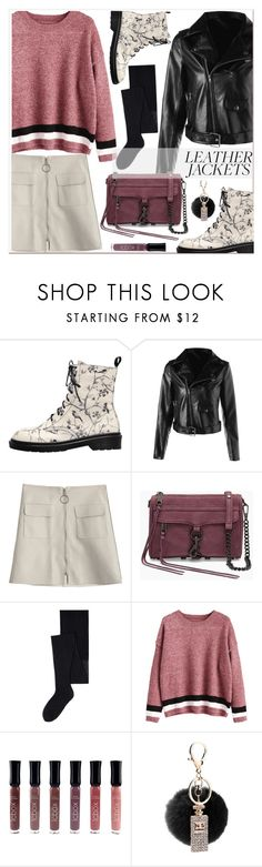 """Cool-Girl Style: Leather Jackets"" by zaful ❤ liked on Polyvore featuring M.A.C and MANGO"