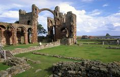 The priory on holy island
