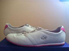Lacoste Vallejo WJA Light Grey / Pink Women's Sneakers in Size: 7 M #Lacoste #FashionSneakers