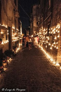 Vallerano (Viterbo) The Night of the candles