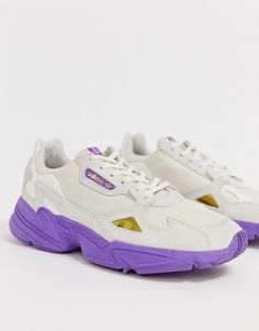 2ded8b283ee8 adidas Originals TFL Falcon in off white and purple