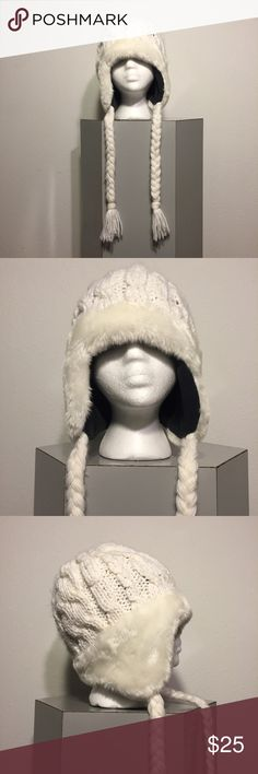 Rip Curl Knit And Faux Fur Beanie w/ Tassels -NWOT Rip Curl Knit And Faux Fur Beanie w/ Tassels - Fleece Lined. Salesman sample. Never worn, but no tags. Feel free to make me an offer. Rip Curl Accessories Hats