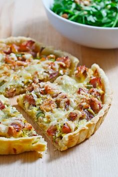 Ham and Leek Tart- Serve on the side of a salad for dinner and pour a glass of white wine.