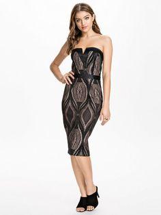 Bandeau Pencil Dress - River Island - Black - Party Dresses - Clothing - Women - Nelly.com