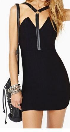 Sexy simple black dress