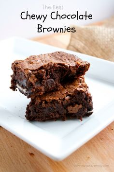 The Best Chewy Chocolate Brownies @FoodBlogs