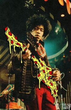 hendrix on the pizza
