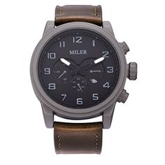Timex Unisex T2P526AB Originals SilverTone Watch with Brown Leather Band >>> Visit the image link more details.