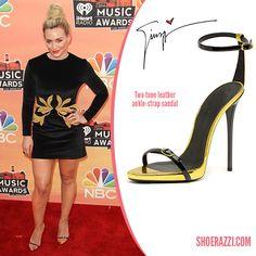 Hilary Duff in Giuseppe Zanotti Ankle-Strap Sandals - ShoeRazzi