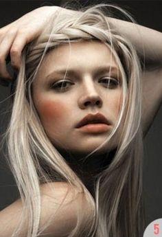 pale hair + peach cheeks = gorgeous!