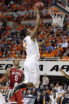 Oklahoma State's Le'Bryan Nash (2) shoots a lay up during the Bedlam men's college basketball game between the Oklahoma State University Cowboys and the University of Oklahoma Sooners