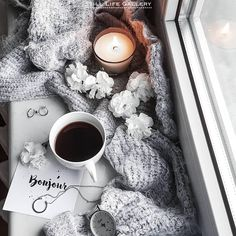 Coffee time in the cold morning