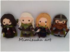 Lord of the rings christmas ornaments felt Gandalf Aragorn Legolas, Gandalf, Aragorn, Fellowship Of The Ring, Lord Of The Rings, Arwen, Felt Ornaments, Christmas Ornaments, Christmas Crafts