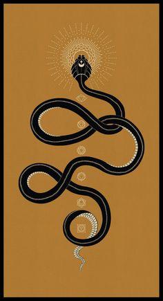 Kundalini // 7 chakras poster // serpent print // yoga studio | Etsy Tatouage Kundalini, Kundalini Tattoo, Kundalini Meditation, Meditation Tattoo, Meditation Music, Mindfulness Meditation, 16 Tattoo, Snake Tattoo, New Tattoos