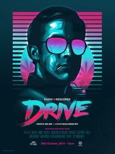 Poster design for the BBC Radio 1 rescore of DRIVE... curated by Zane Lowe. I created this unofficial poster in 3 colour-ways. It was available in extremely limited quantities.