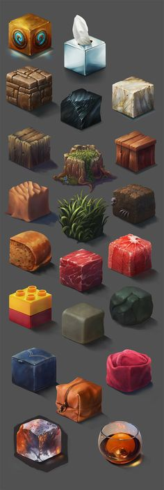 A unique way of creating and learning materials - Material Study, Ayhan Aydogan Digital Painting Tutorials, Art Tutorials, Game Design, Paint Photoshop, Doodle Drawing, Drawing Tips, Drawing Ideas, Game Textures, Isometric Art