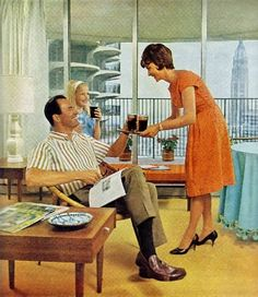 Modern living in Marina City, c.1965, Chicago. simonaioffe
