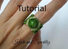 Macrame ring tutorial Ring pattern adjustable by KNOTSANDSPARKLEZ