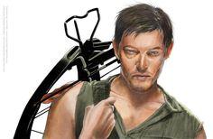 The Walking Dead Daryl Final Color by cjoefishsculpt.deviantart.com