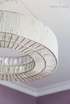 Ceiling Lighting Closeup - Sara Slade Interiors - Suspended Chandelier