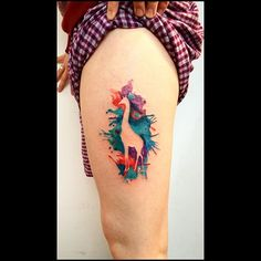 Good for watercolor tattoos. By Kym Munster.