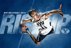 BYU Men's Volleyball 2014. Design by Dave Broberg