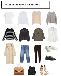 Capsule Wardrobe Work, Fall Wardrobe, Day Trip Outfit, Simple Outfits, Casual Outfits, Minimalist Fashion, Minimalist Packing, New York Outfits, Dress Like A Parisian