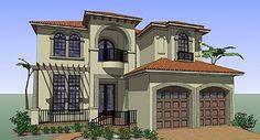 Elevation of Coastal   Contemporary   Florida   Italian   Mediterranean   House Plan 75131