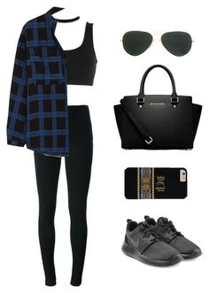 """""""Untitled #118"""" by gr20gk on Polyvore featuring adidas Originals, Givenchy, Burberry, NIKE, Ray-Ban and MICHAEL Michael Kors"""