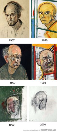 Funny pictures about Chronicle of an artist with Alzheimer's disease. Oh, and cool pics about Chronicle of an artist with Alzheimer's disease. Also, Chronicle of an artist with Alzheimer's disease. Illustrations, Illustration Art, Ap Art, Human Art, To Infinity And Beyond, Alzheimers, Art Plastique, Art Therapy, Art World